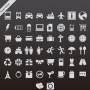 Link toGray travel series vector icons