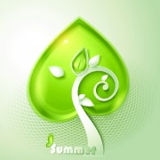 Link toGreen season style vector background 02
