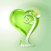 Link toGreen season style vector background 03