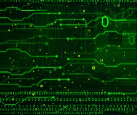 Green technology data vector background
