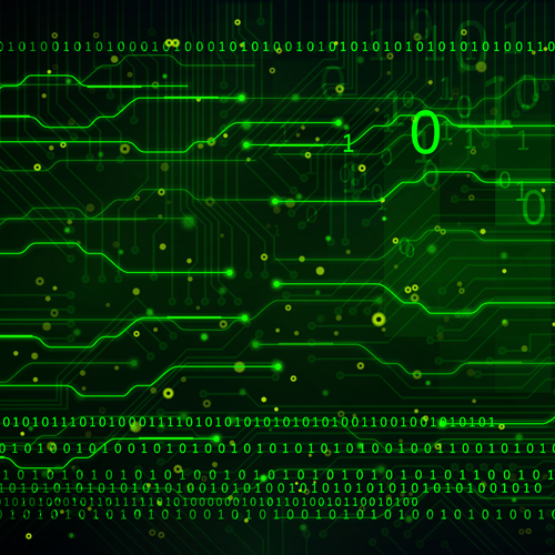 green technology data vector background free download