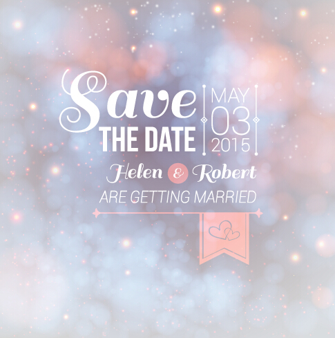 Halation wedding invitation background vector 04 Free Vector free