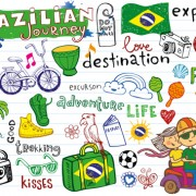 Link toHand drawn brazil elements vector material 02