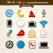 Link toHand drawn communication vector icons