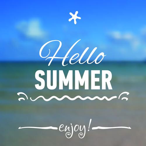Hello Summer Blurred Background 04 Vector