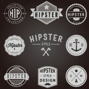 Link toHipster style badges and labels vector graphics 02