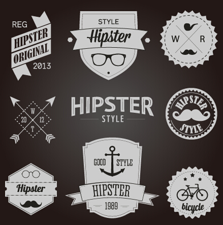 13+ Free Vector Hipster Logo Template Sets - Hipsthetic