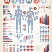 Link toHuman health infographics vector material 01