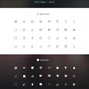 Ios 7 style line icons psd
