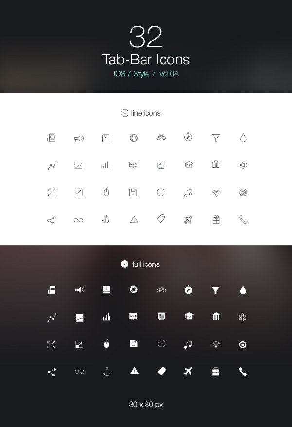 Ios 7 Style Line Icons Psd Over Millions Vectors Stock