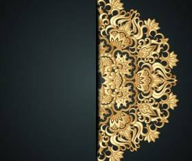Lace decorative pattern vector background 01