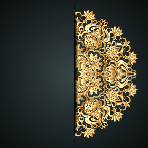 Lace decorative pattern vector background 01