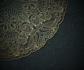 Lace decorative pattern vector background 02