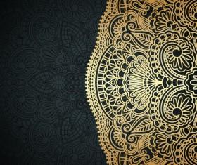 Lace decorative pattern vector background 03