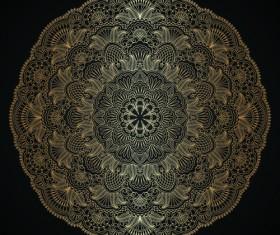 Lace decorative pattern vector background 04