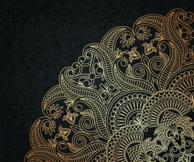 Lace decorative pattern vector background 05