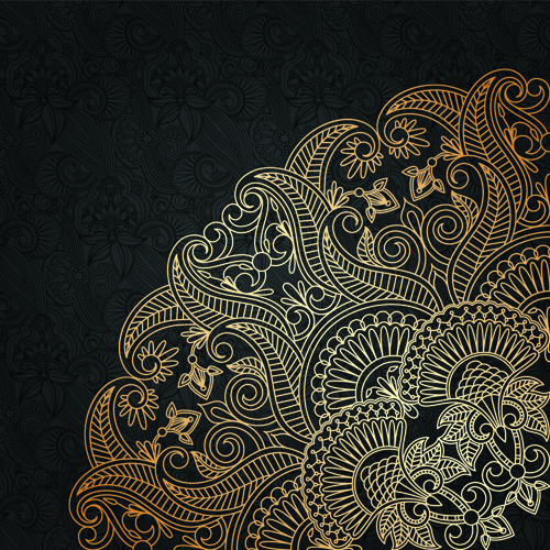free vector ornamental lace background