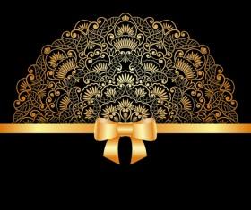 Lace decorative pattern vector background 06