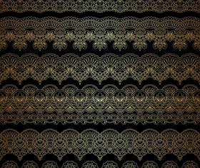 Lace decorative pattern vector background 08
