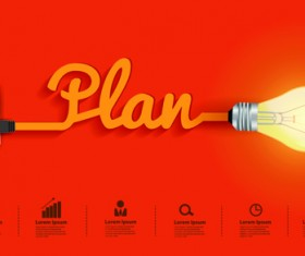 Light bulb business idea vector template 01