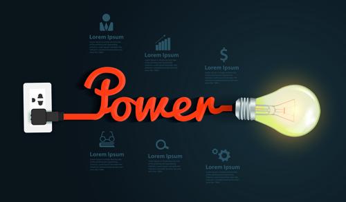 Light bulb business idea vector template 03
