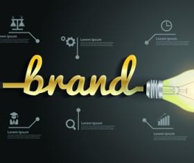 Light bulb business idea vector template 05