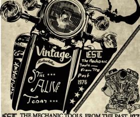 Motorcycle retro posters creative vector graphics 01