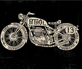 Motorcycle retro posters creative vector graphics 03