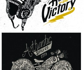 Motorcycle retro posters creative vector graphics 04