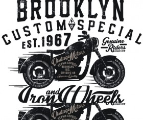 Motorcycle retro posters creative vector graphics 05