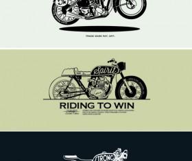 Motorcycle retro posters creative vector graphics 06
