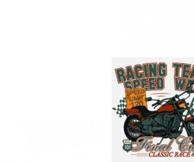 Motorcycle retro posters creative vector graphics 07