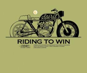 Motorcycle retro posters creative vector graphics 08