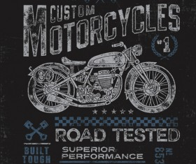Motorcycle retro posters creative vector graphics 09