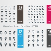 Link toMustache - shoes - face icons vector