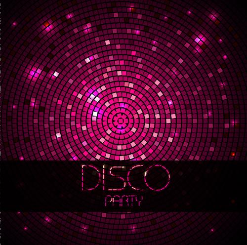 Neon disco music party flyers design vector 04 - Vector ...