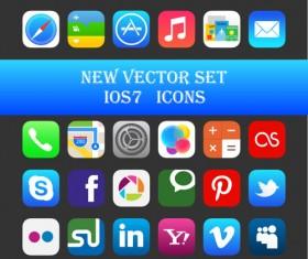 Original design IOS7 media icons vector