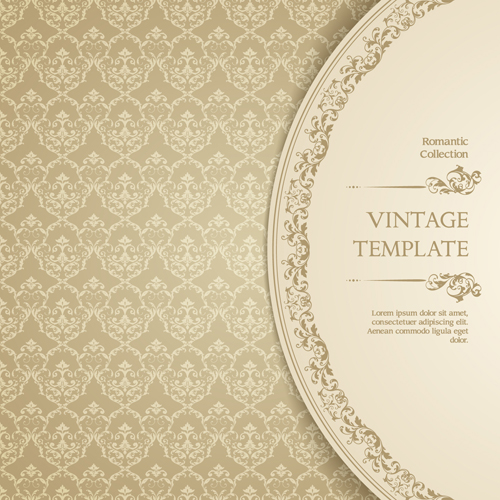 ornate vintage template background vector 04 – over millions, Powerpoint templates
