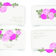Link toPink rose with card vector design graphic 02