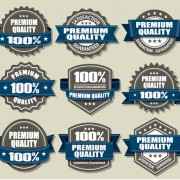 Link toPremium quality labels and blue ribbon vector