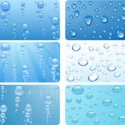 Link toRealistic water drop vector background material 01