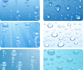Realistic water drop vector background material 01