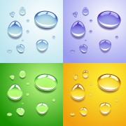 Realistic water drop vector background material 03