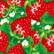 Red strawberries vector seamless pattern