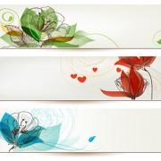 Link toRefreshing banner with floral vector design 03