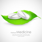 Refreshing herbal medical vector background 01