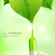 Refreshing herbal medical vector background 02