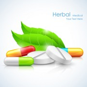 Refreshing herbal medical vector background 03