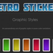 Link toRetro stickers text styles
