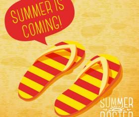 Retro summer advertising poster vector set 01